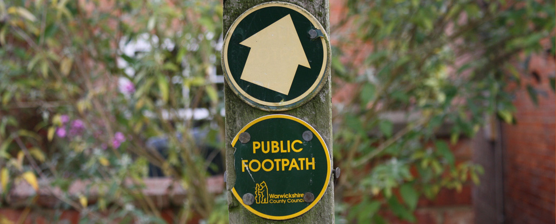 Keep footpaths open and usable