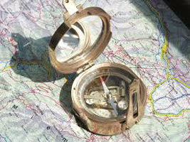 compass-and-map